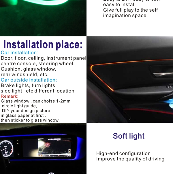 wholesale 2017 patented produt car Interior Accessories Atmosphere Lights Decoration Lamp demo lights for car ambient lighting