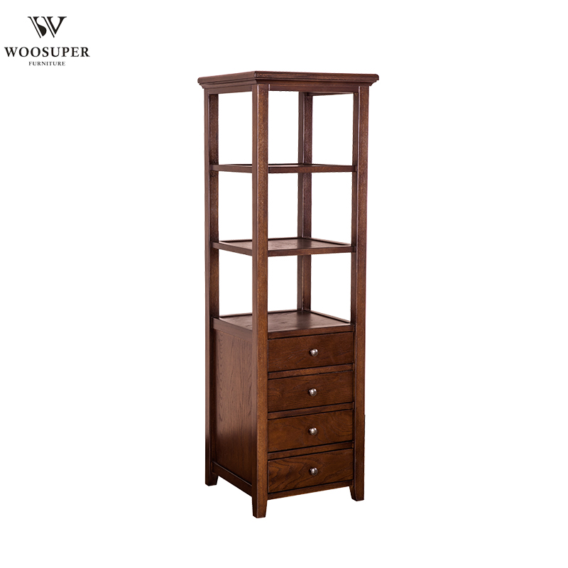 Customized Wooden Side Cabinet Multi Layer Drawers Corner For Living Room With