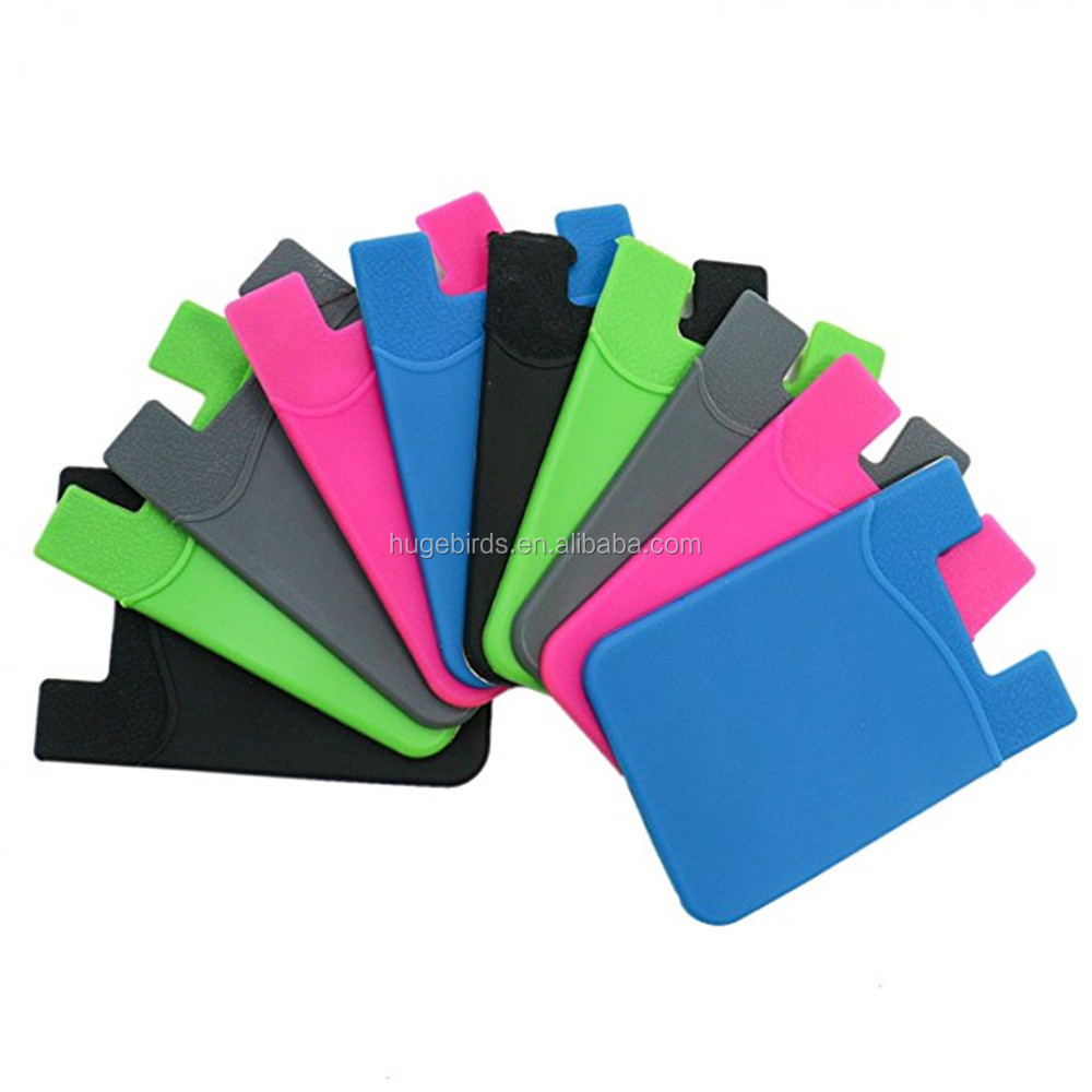 3M Adhesive OEM Silicone cell phone credit card holder