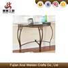 Metal living room furniture glass-top indoor sofa table