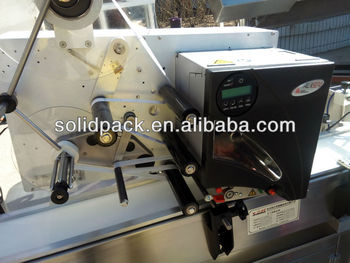 Automatic avery two-dimension QR/ bar date code printing and labeling machine