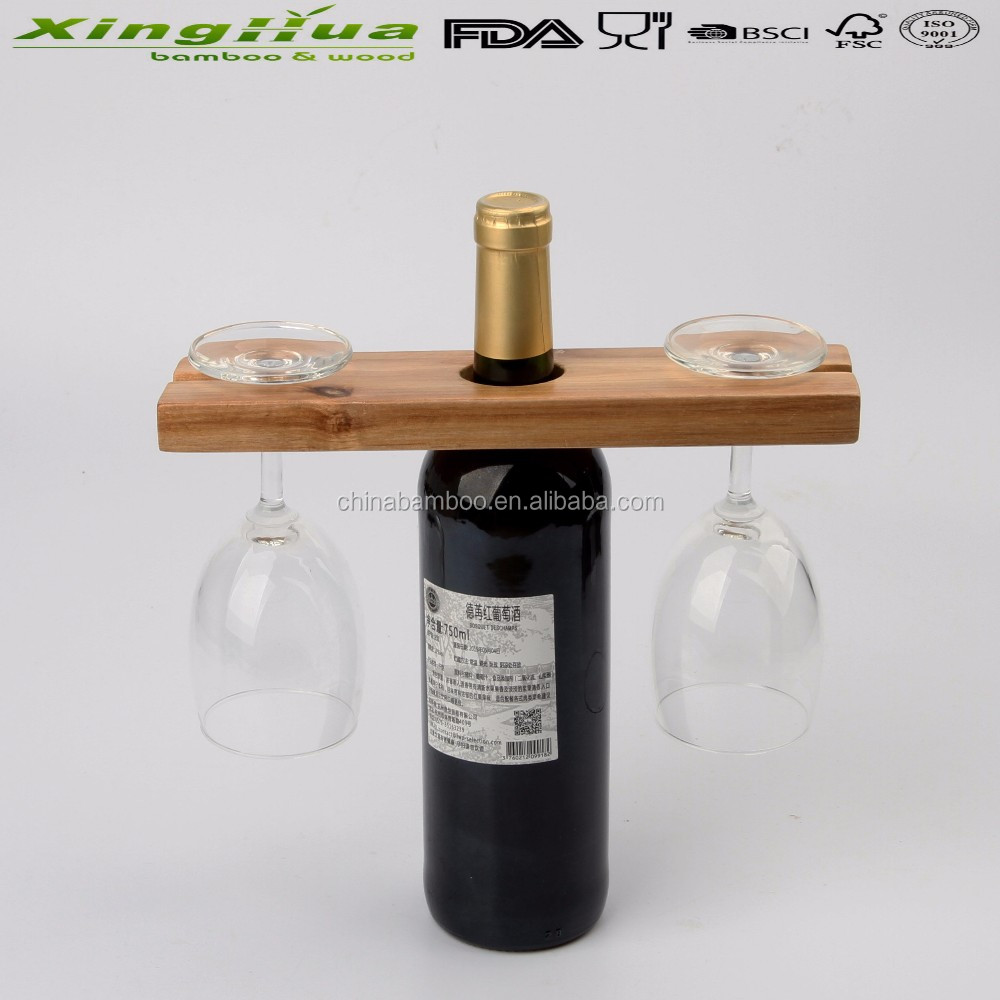 Simple Wooden Wine Rackwooden Wine Rack With Wine Glass Holder Tray