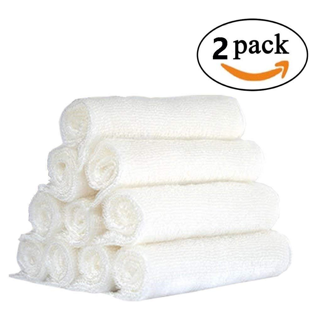 Kitchen Towels - Odor-Free Dish Cloths (2 Pack). The Perfect Scrubber,Dish Towels,Sponge And Scouring Pad to Clean Your Dishes, Pots & Pans, And Kitchen Gear. ldeal For Home, RV, Boat Galley and Camp