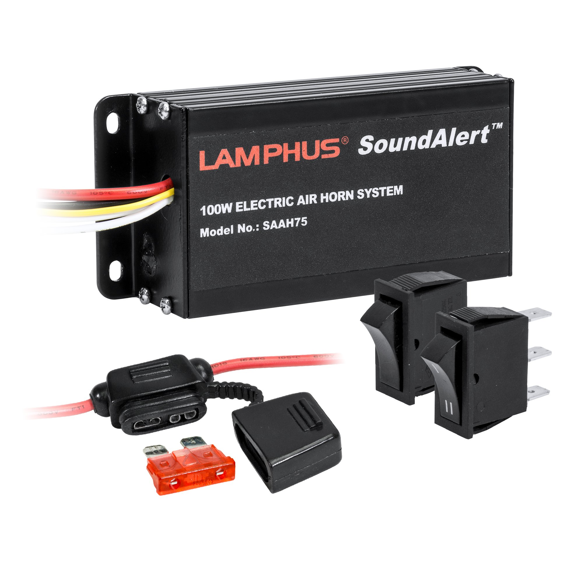 Cheap Electronic Amplifier Find Deals On Line Power Otl For Cassette Radio Booster It Have Transistor Get Quotations Lamphus Soundalert Saah75 100w Air Horn Trucks Cars