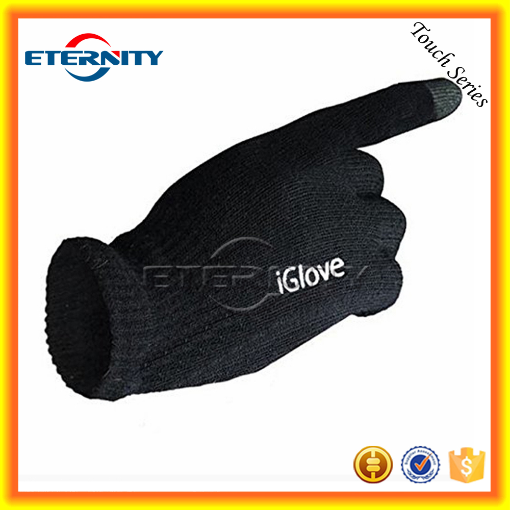 2016 Hot Black Smart Phone Touch Screen Glove for iphone ipad