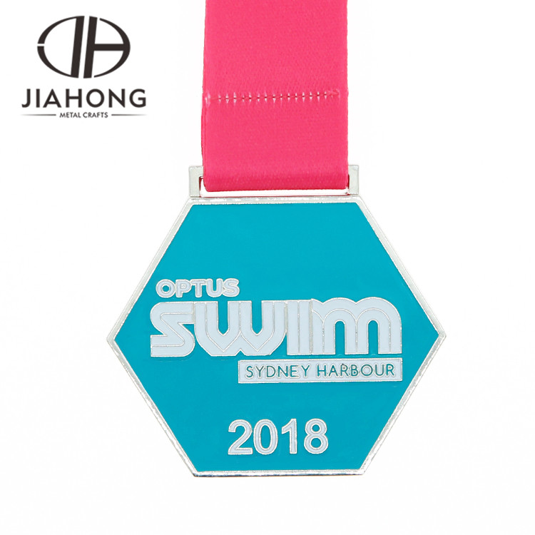 Custom soft enamel sport swimming diecast medal