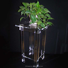 Living Room Decor Plant Display Furniture Clear Acrylic Table