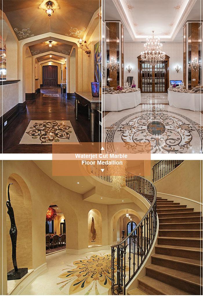 Free Consultation Hotel Lobby Marble Medallion Pattern