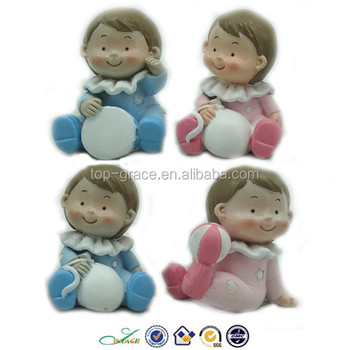 Resin Birthday Cake Topper Mini Baby Figurines Buy Mini Baby - Birthday cake figurines