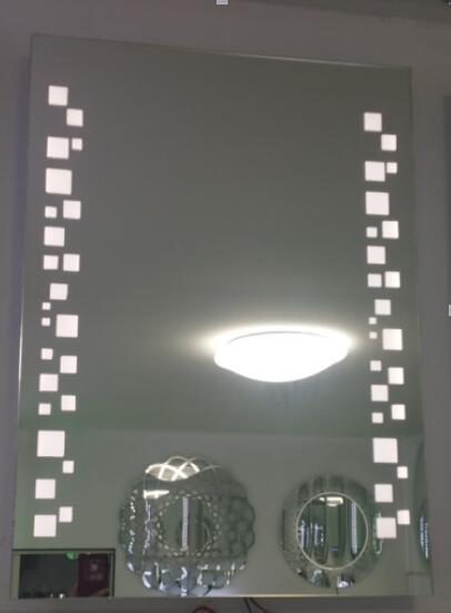 la venta caliente nuevo diseo con luz led mm vidrio flotado plata bao decorativo bao