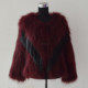SJ483-01 Newest Designer Italy Fashion Fur Coat with PU Tassels Fur
