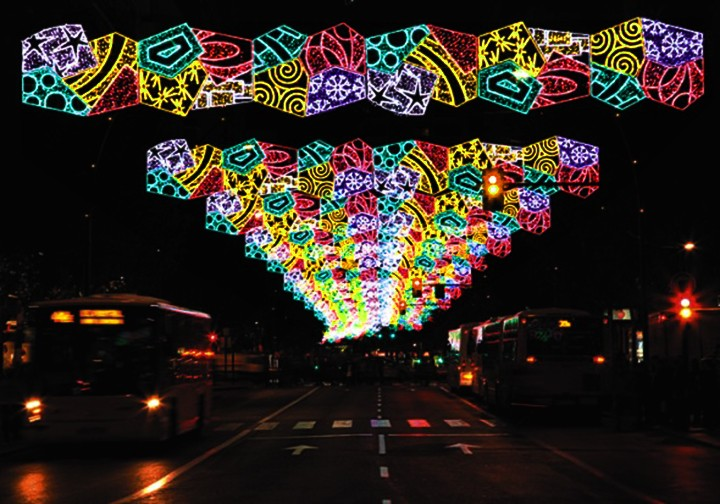 Shopping Mall Decor Christmas Led Street Decoration Motif ...
