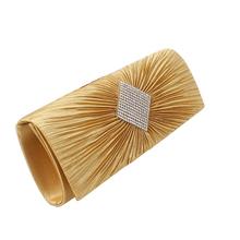 Famous Brand fashion day clutches Women Fashion Diamonds Evening Bag Satin Button Casual Clutches Purse  High Quality Bag XA294D