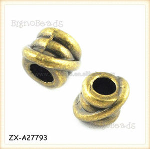 Tibetan Silver Separators Fits Pandora Lucky Infinity Knot Bead Spacer Bead Fits European Bracelets
