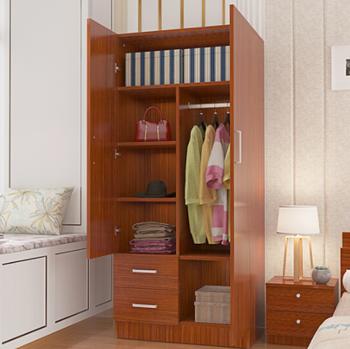 Factory Customizable Simple Modern Teak Color Combination Wardrobe Buy Wood Clothes Closet Bedroom Closet Wood Wardrobe Cabinets Multi Purpose