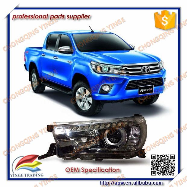 LED Tuning Headlight For Toyota Hilux Revo 2015 2016 Accessories