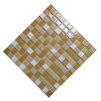 Distinctive glass tile color block 23x23mm mesh backed sheet mosaic