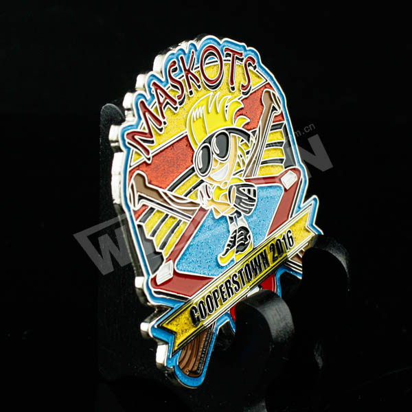 Customized enamel freemason lapel pin