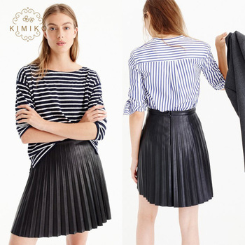 best selling browse latest collections top fashion Hot Sell Summer Black Leather Pleated Mini Skirt - Buy Sexy Leather Mini  Skirt,Short Black Pleated Skirt,100% Sexy Hot Skirts Product on Alibaba.com