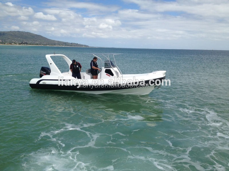 Liya Big Outboard Motor 25ft Rigid Boats Used Chinese Boats ...