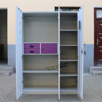 Lightweight Portable Armoire Wardrobe Closet/3 Door Steel Wardrobe