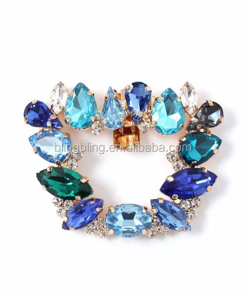 73f6cc592d1 Bridal Wedding Rhinestone Shoes Decoration Crystal Shoe Charm Gold Tone  Clips
