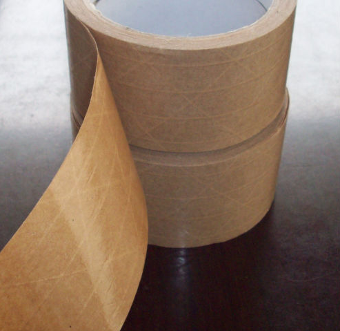 water activated reinforced kraft paper filament tape used for carton sealing