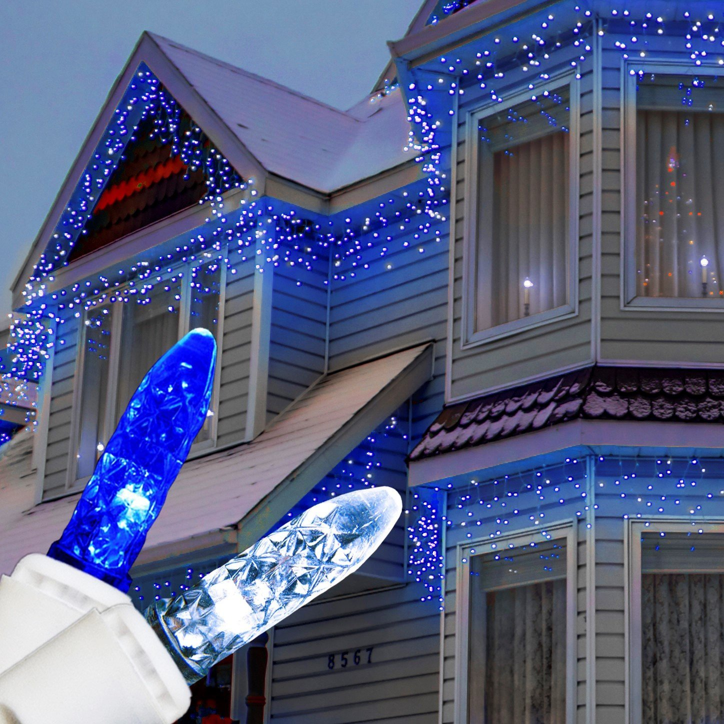 Cheap blue icicle lights outdoor find blue icicle lights outdoor get quotations christmas 12 frost white blue 300 ct icicle lights outdoor string lights christmas aloadofball Gallery