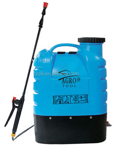 16L PE Tank PP Bottom Agricultural rechargeable Battery Power Operated Knapsack Sprayer