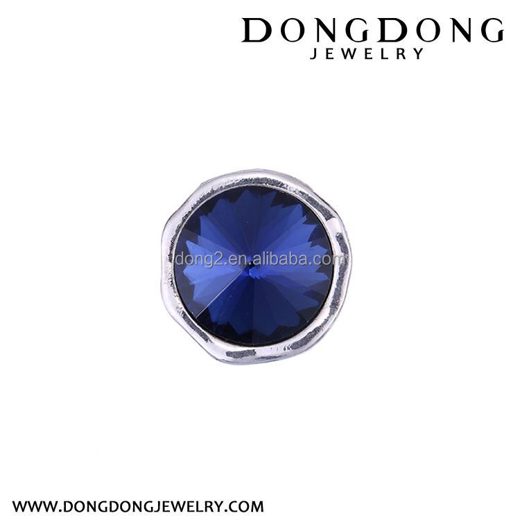 New arrival excellent quality charm round inlaid sapphire engagement ring
