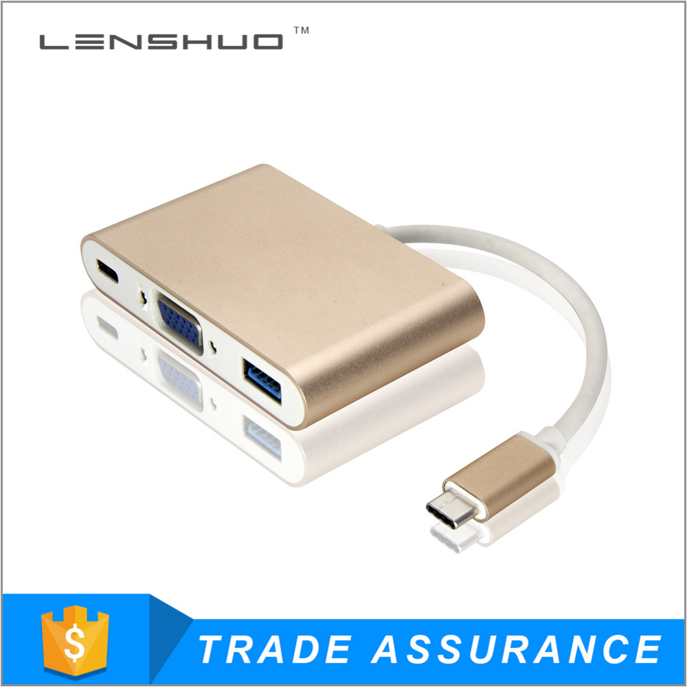 2015 New product usb type c usb-c 3.1 to hdmi vga dvi adapter up to 10gbs
