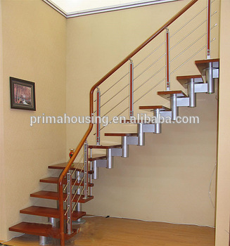 Charmant Modern Steel Wood Staircase Indoor Stair Handrails Stair Design(PR L1035)