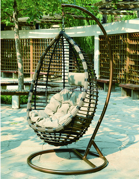Alibaba Furniture Outdoor Hanging Chair Cushion Hanging Egg Chair With Stand