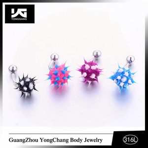 New Ball Belly Button Navel Rings Mix Color Belly Rings Body Piercing Jewelry