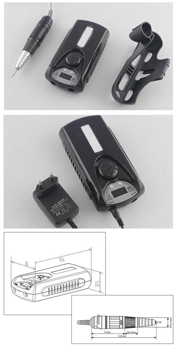 Risesun Vendita Caldo Professionale 30000 rpm Portatile 2 Vie Ricaricabile Cordless Nail Grinder Elettrico Nail Drill Macchina