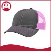 Custom wholesale plain neon snapback trucker hats