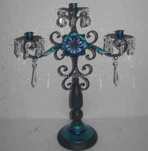 French centerpieces iron wedding crystal candelabra on sale