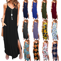 2019 Summer Dress Women Sleeveless Boho Style Short Beach Dress Sundress Casual Shift Dresses
