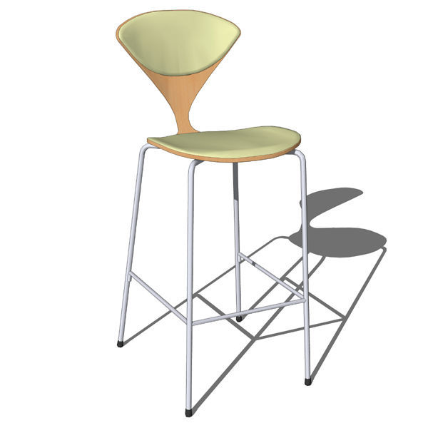 metal base wooden seat with leather cushion cherner bar stool