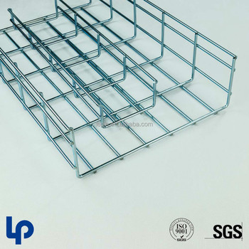 Outdoor Hot Dipped Galvanized Wire Mesh Basket Cable Tray System