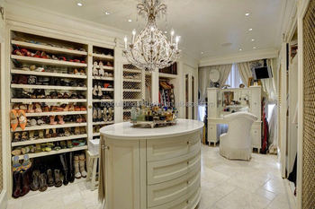 Custom made closet shoe rack design