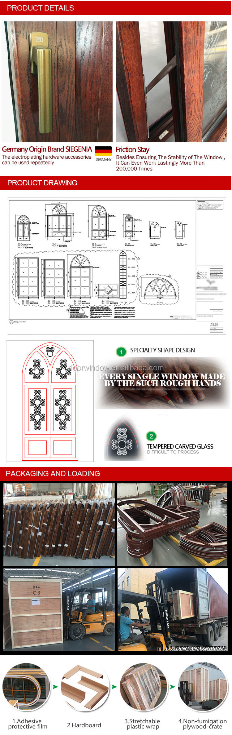 Arch window aluminum aluminium windows catalogue