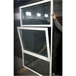Original factory sliding kitchen window single glazed aluminium windows sideways