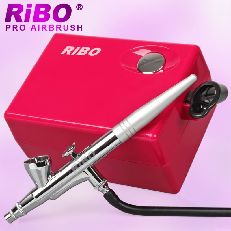 Air Brush Spray Gun Makeup Set with Mini Compressor for Cake Nail Crafts Sewing