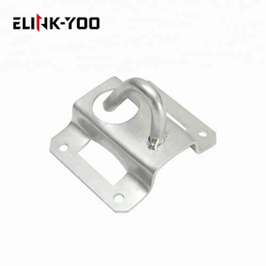 ftth fiber optic fixation galvanized steel hook drop cable anchor clamp bracket for hanging clamp