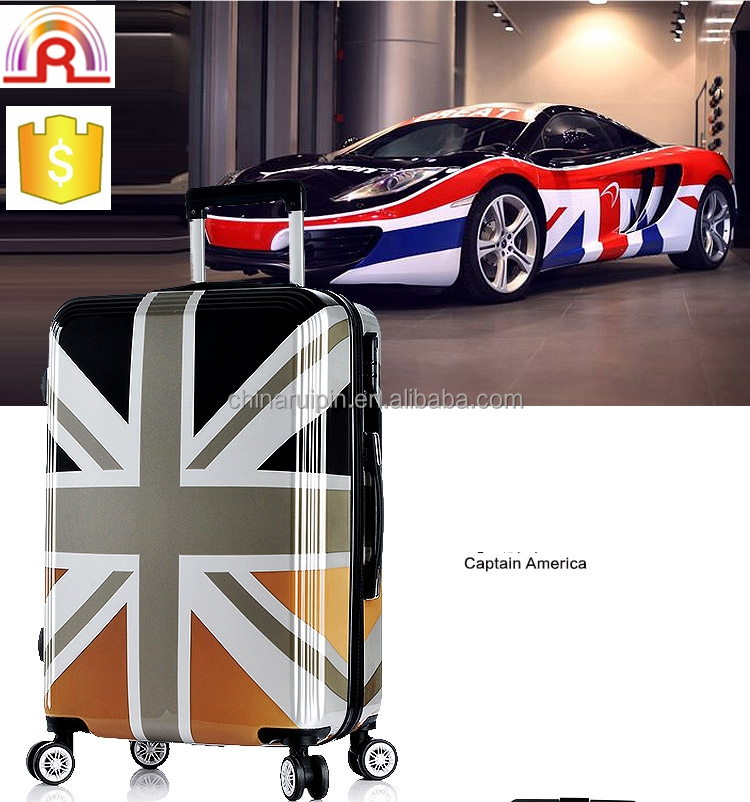 Flag Printing abs and pc Luggage set, traveling luggage set, polo luggage