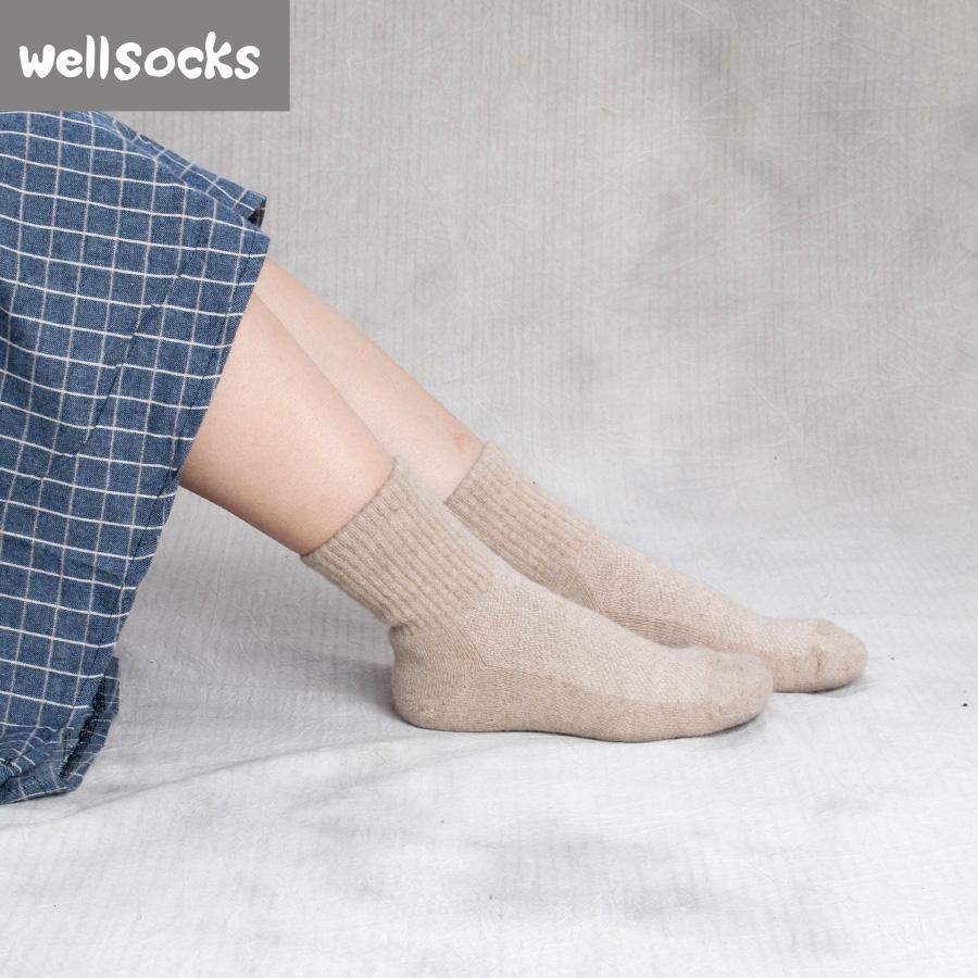 Düşük fiyat özel merinos yün genç kız ayak bileği çorap