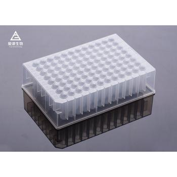 Magnetic Sleeve manufacturer 24 Well 96 deep well plate for Custom laboratory plastic utensils
