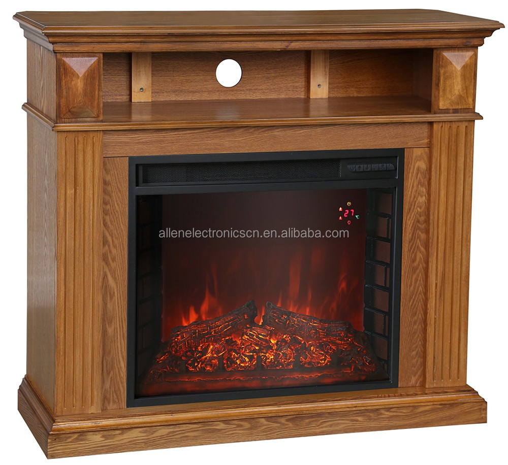 Electric Fireplace Heater Electric Fireplace Heater Portable Small Space Black Flame Fire Wood