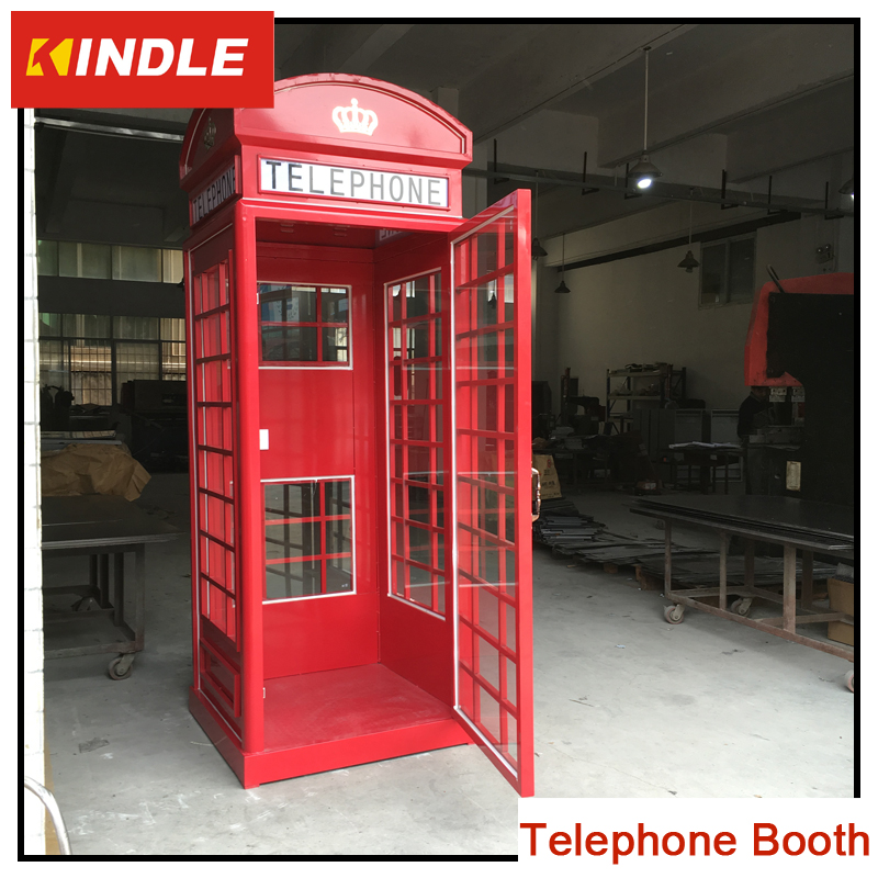 Telephone booth for decoration or advertising with OEM service